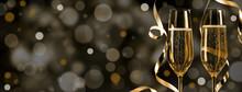 Golden Champagner Silvester Background 2019