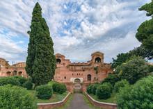 View Of Aurelian Walls In Rome...