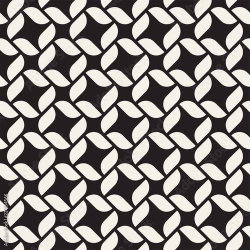 Foto op Plexiglas Kunstmatig Vector seamless lines mosaic pattern. Modern stylish abstract texture. Repeating geometric tiles