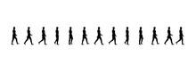Walking Man Sequence Vector Illustration Frames, Animations