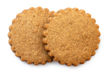 Two Round Gingerbread Biscuits...