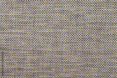 Fotobehang Macrofotografie Light gray textile background with checkered pattern, closeup. Structure of the fabric macro.