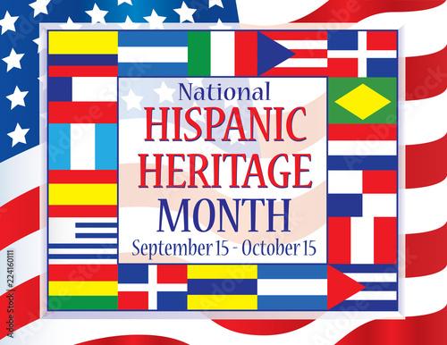 Fotografie, Obraz  Hispanic Heritage Month September 15 - October 15