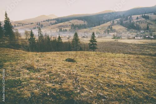 Foto op Aluminium Blauw Journey to the mountains. Beautiful mountain landscape