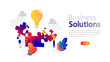 Business solutions horizontal banner for your website.