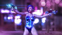 Cyborg Girl Armed With Guns, F...