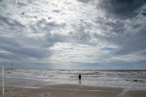 Spoed Foto op Canvas Noordzee KInd an der Nordsee in Holland