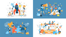 Set Of Start Up Illustration W...