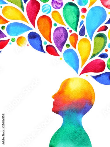 human head mind brain spirit powerful energy connect to the universe power abstr Wallpaper Mural