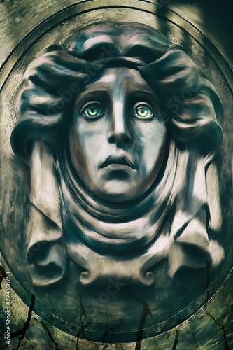 Cadres-photo bureau Inspiration painterly Escultura para halloween con ojos claros