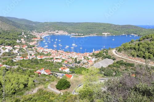 Fotografie, Obraz  Vis City, Vis Island, Croatia