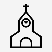 Outline Church Pixel Perfect V...