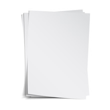 Stack Of Blank Sheets With Sha...