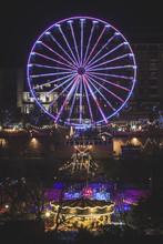 Ferris Wheel At Christmas Mark...