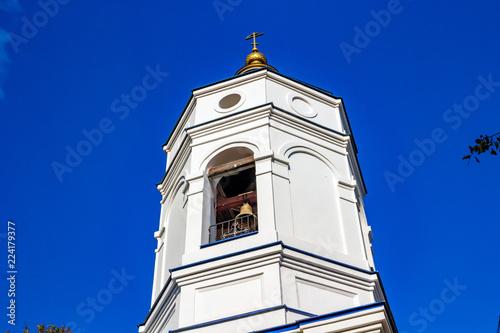 Church of the Transfiguration of the 19 th century in the village of Spas-Suhodrev. Maloyaroslavetsky district, Kaluzhskiy region, Russia