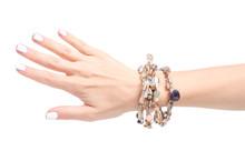 Beads Stones Bracelet In Hand ...