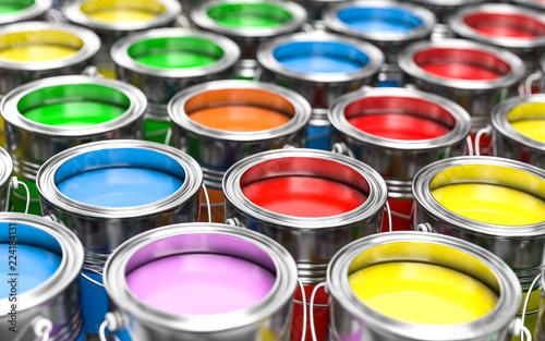 Fotomural 3D Illustration bunte Farben