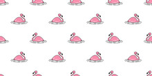 Flamingo Seamless Pattern Vect...
