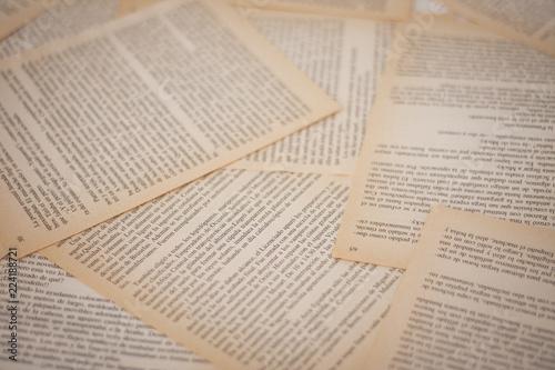 Fotografie, Obraz  old book pages