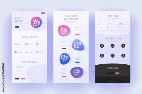 Obraz Design agency Landing page template. - fototapety do salonu