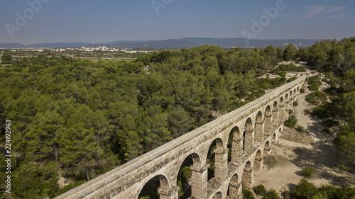 Photo Pont del Diable. Roman aqueduct of Tarragona, Catalonia, Spain