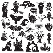 Halloween Icon Set. Simple Set...
