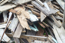 Pile Of Old Wood Chips , Scrap...
