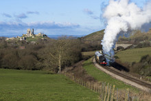 Steam Train On The Swanage Rai...