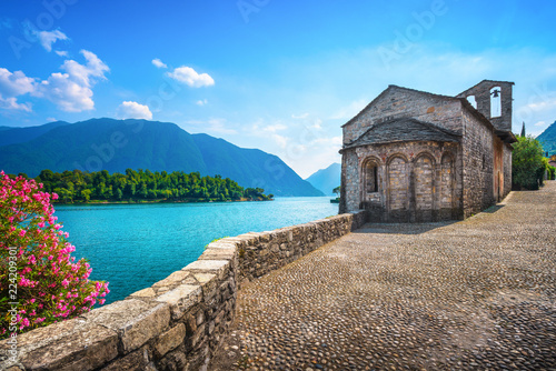 San Giacomo church Ossuccio Tremezzina, Como Lake district. Italy.