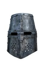 Old Knight Helmet Isolated On ...