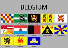 All Flags Of Regions Belgium