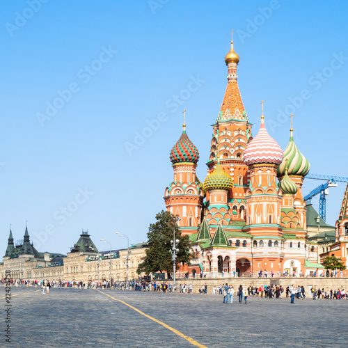 Foto op Plexiglas Moskou Pokrovsky Cathedral on Red Square in Moscow
