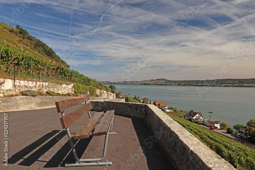 Keuken foto achterwand Noordzee Rebweg bei Twann, Bielersee, Schweiz