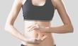 Leinwanddruck Bild - Abdomen balance beauty belly body bodycare button