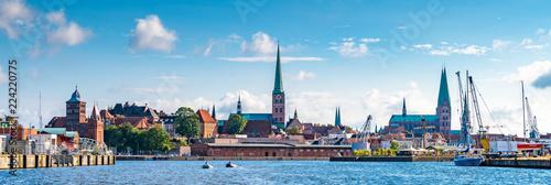Obraz Panorama von Lübeck - fototapety do salonu