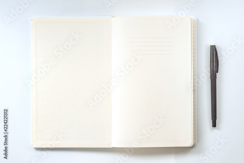 Photo  Top view collection of notebook front