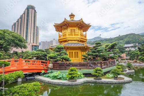 Photo  Nan Lian Garden near Chi Lin Nunnery Temple At Hong Kong