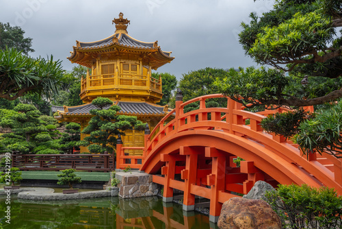 Foto op Plexiglas China Nan Lian Garden near Chi Lin Nunnery Temple At Hong Kong