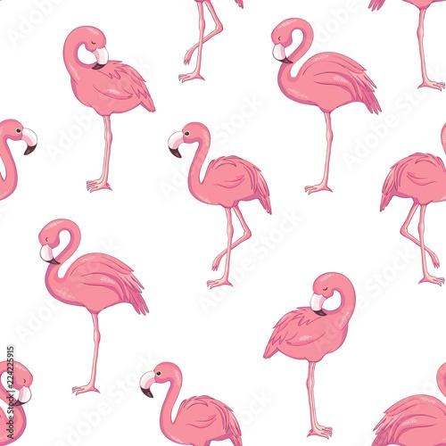 Canvas Prints Flamingo Bird Tropical flamingo pattern