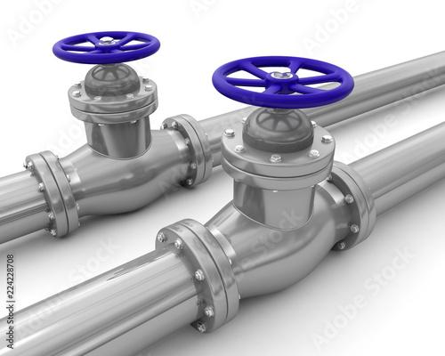 vanne tuyau pipeline conduite Canvas-taulu