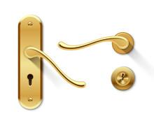 Metal Door Handles And Door Lock