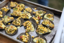 Blue Corn Chips With Corn Salsa