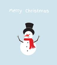 Vector Funny Snowman