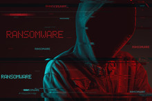 Ransomware Concept With Facele...