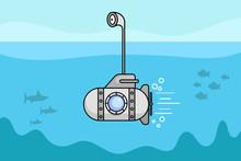 Cartoon Submarine With The Per...