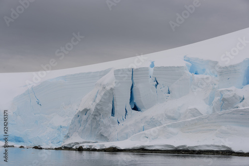 Glacier with crevasse
