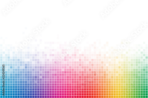 Canvas Print Abstract Rainbow Square Mosaic Background