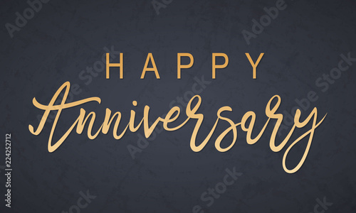 Happy Anniversary lettering Canvas Print