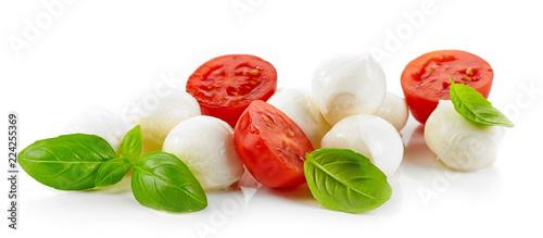 Fotomural Mozzarella cheese balls with tomato and basil