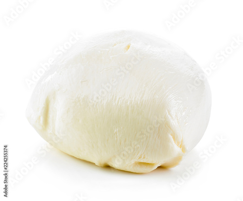 Mozzarella cheese on white background
